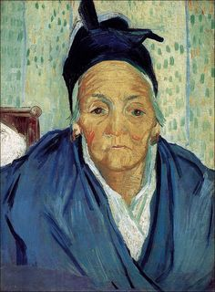 Vincent van Gogh (1853-1890), An Old Woman of Arles, February 1888. Oil on canvas, 58.0 x 42.5 cm. Van Gogh Museum Amsterdam. #VanGogh