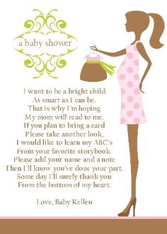 Baby shower book poem--you can buy the baby a boom for as much as cards cost theses days!! Genius idea!