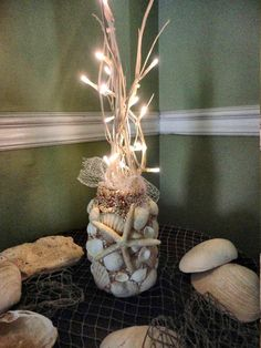 Starfish Decor Nautical Decor SeaShell Centerpiece by BeachBasket, $40.00