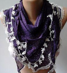 Purple  Elegance Shawl / Scarf by womann on Etsy,