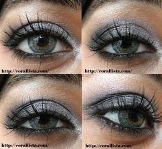 Silver and Black Smokey Eyes