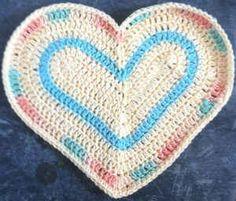 Soul Heart Dishcloth #crochet