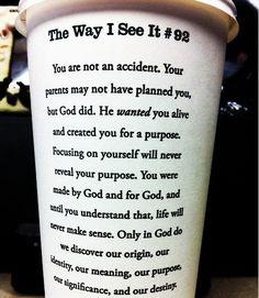 God created you...