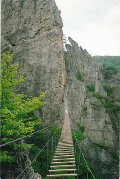 Seneca Rocks ~ Pendleton County, West Virginia....I've never seen this bridge, but I'd personally never cross it. :)