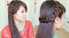 Unique 4-Strand Lace Braid Hair Tutorial - Bebexo