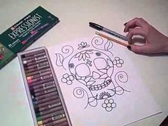 How to draw a calavera.  They turn out great.
