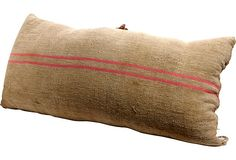antique burlap pillow