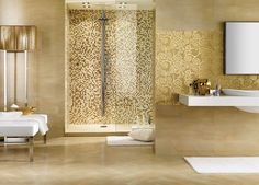 gold bathroom interior