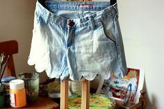 DIY Scallop Shorts SO CUTE