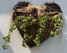 Barbwire Heart Planter, made to support a live plant.  $150.00