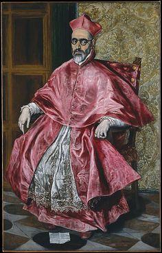 Portrait of a Cardinal (Probably Cardinal Don Fernando Niño de Guevara (1541–1609)), ca. 1600, oil on canvas, Greek