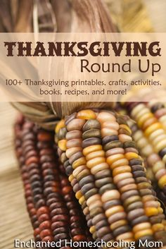 Thanksgiving Round Up {100+ Thanksgiving printables, crafts, activities, books, recipes, and more!} - Enchanted Homeschooling Mom