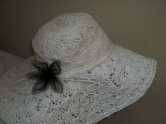 Hand crochet Summer Hat - beautiful, feminine, and romantic!