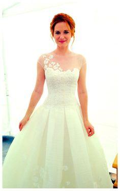 April Kepner's wedding dress. I will have this dress. by designer Peter Langner. #GreysAnatomy