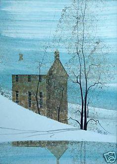 "P. Buckley Moss ""Tranquil Winter"" Original Painting"
