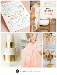 We are beyond thrilled to announce our new foil-stamped collection. Make a truly shining statement with your wedding invitation, then welcome your guests with more metallic touches at your reception.