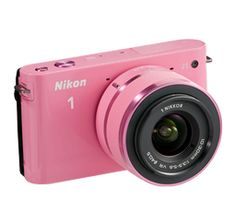 My latest crush this little pink thing is so cute. Nikon 1 J1 - Two Lens Zoom Kit in Pink