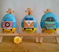 Commission vw camper painting.  Original by FlubberDinkumArts, £14.50 camper paint, vw camper, rock paint, paint rock
