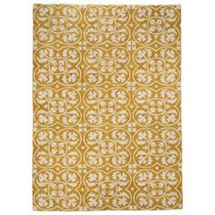 Threshold Lattice Area Rug - Yellow
