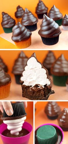 Chocolate Dipped Cupcakes