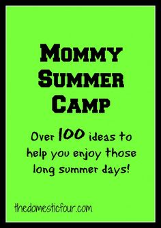 Mommy Summer Camp! Oh my....perfect for me. Next year, I will will do folders with brads instead of manila! Great ideas!