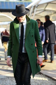 ALL OF THIS. The green jacket and leather pants got me good.