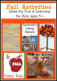 Fall Activities for kids ages 5+ ... math, reading and more!