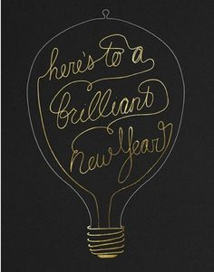 Here's to a brilliant New Year