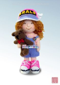 Molly Crochet Doll Pattern, Design by nong 14.24