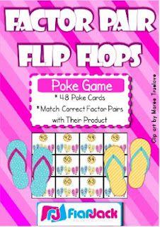Classroom Freebies: Factor Pair Flip Flops Game