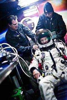 HIGHEST SKYDIVE EVER:  Felix Baumgartner broke the speed of sound going 834 mph during his stratospheric leap from 128,097 feet above the earth in New Mexico on 10/14/12.  He landed safely 9 minutes later.  AMAZING!!