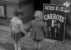 British Wartime Rationing: Iced Carrots on Sticks, 1941.