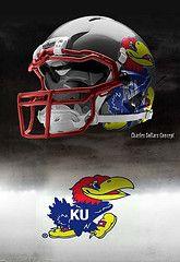 Kansas Jayhawks helmets