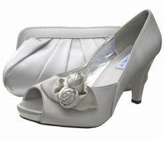 Rosebud Silver Evening Shoes. Silver Wedding Shoes perfect for special occasions.