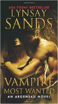 Vampire Most Wanted: An Argeneau Novel (Argeneau Vampire) by Lynsay Sands.  Click the cover image to check out or request the romance kindle.