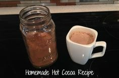 Homemade Hot Cocoa Recipe. I decided this year to make the hot cocoa mix instead of spending all that money on the store-bought packets and it's better.