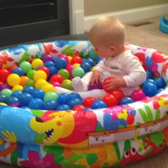 Home made ball pit plastic baby pool and balls
