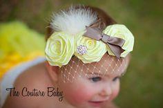 shabby chic vintage headband with birdcage netting | ... Shabby Chic Elegant Rosette Trio Flower Rhinestone Vintage Headband