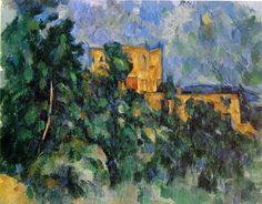 """I used this painting on the cover of my novel, """"The Fate of Pryde."""" Paul Cezanne painted """"Chateau Noir"""". Actually he created numerous versions of it...a real castle in the south of France, owned by a wealthy and reclusive industrialist. He had painted the entire interior with black paint including the furniture. In local lore, it grew to be the home of the devil.   http://remembrancetrilogy.com"""
