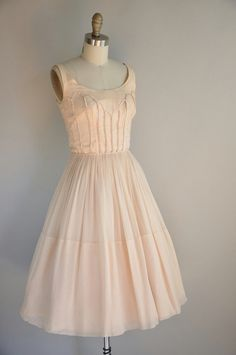 1950s vintage dress (wish the waist measurements on these dresses weren't always 23-24! I know they all wore girdles and such, but jesus.)