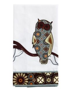 "Vera Bradley Birdie Tea Towel in Canyon, $19 | ""These tea towels are an easy way to spruce up our kitchens in time for our holiday parties and out-of-town guests. And the owl is just too cute!"""
