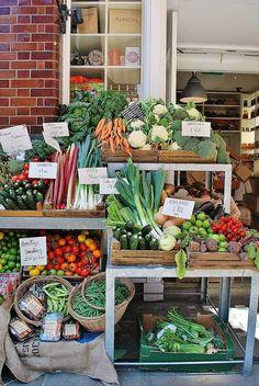 Farmers market display. Albion | London