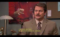 Ron Swanson @ Chuck E. Cheese