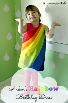mama says sew: Rainbow Birthday Dress with Jenn of A Jennuine Life