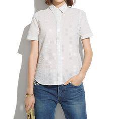 Madewell - Short-Sleeve Shirt in Crinkledot