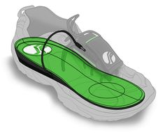 SolePower. Insole fits in shoe. When heel hits the ground a small generator spins to create electricity.  This is stored in a detachable Power Pack that has a USB port for charging devices, such as a phone. #energyharvesting