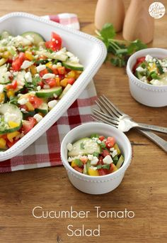 Easy Cucumber Tomato Salad Recipe