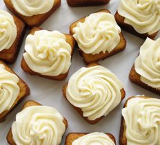 Mini Banana Cakes with Cream Cheese Frosting from Garlic Girl.