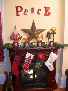 Kids' Christmas Mantel