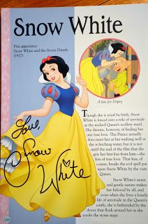 My favorite Autograph Book idea... ~ buy a Disney encyclopedia and have the characters that you meet sign their page